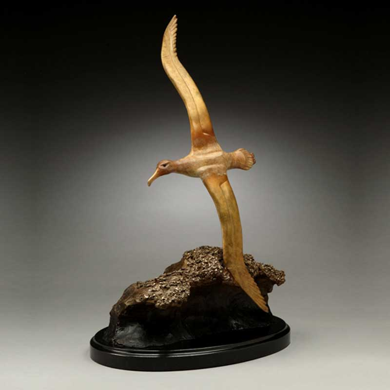 Albatross Bronze Sculpture, Wave Runner