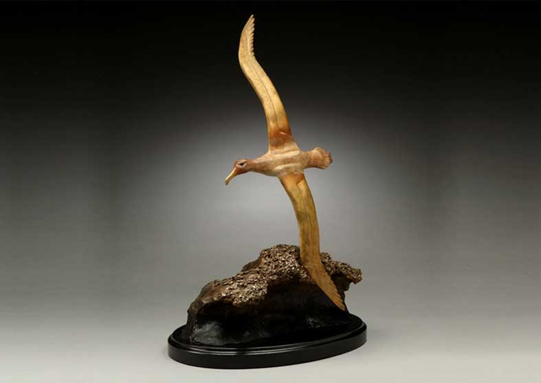 Albatross Bronze Sculpture | Wave Runner