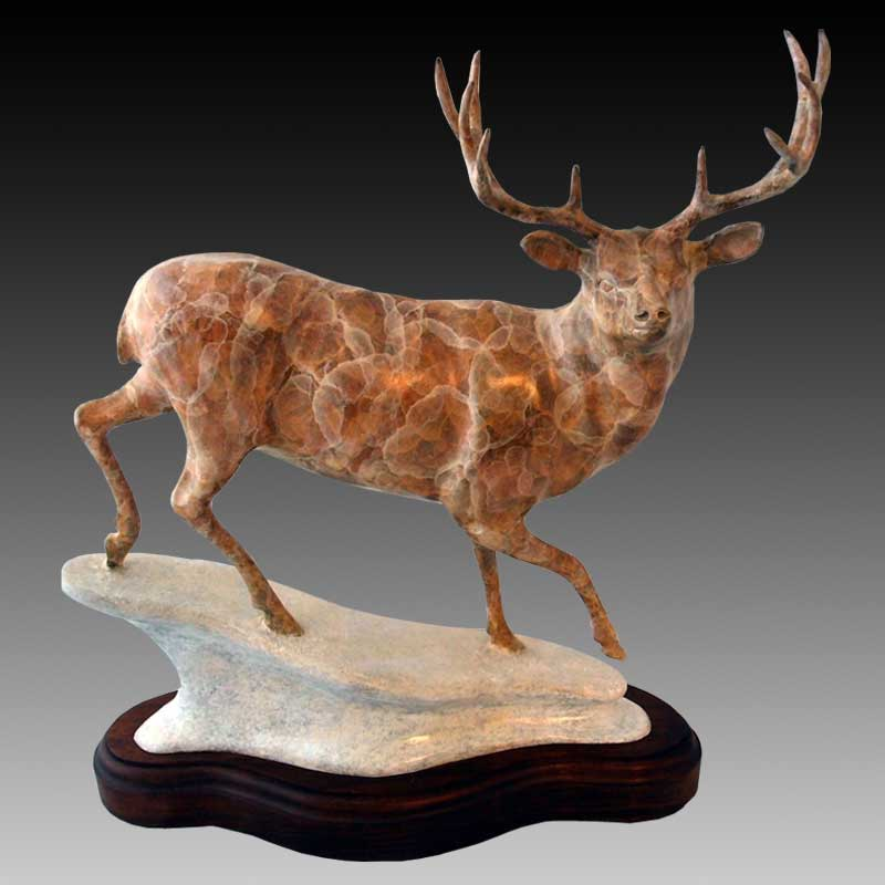 Bronze Mule Deer Sculpture, Aspen Aristocrat