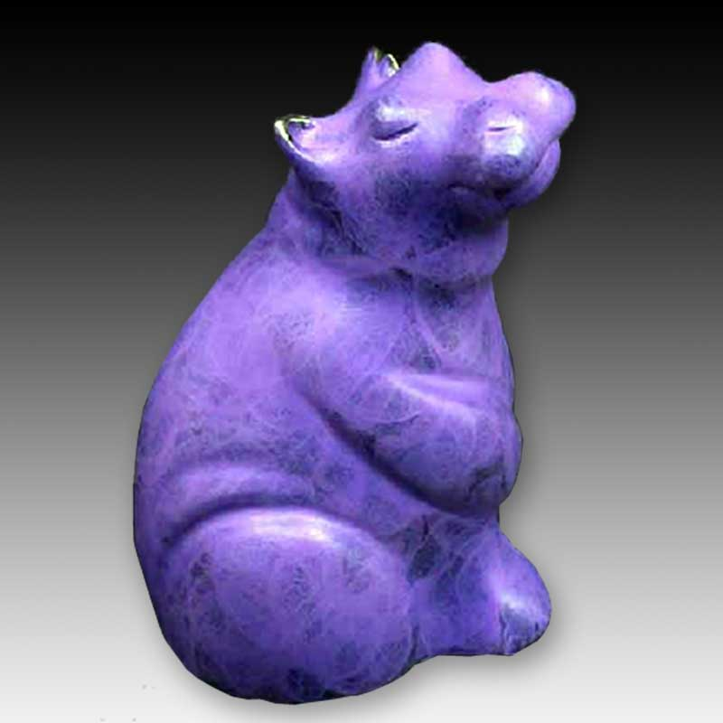 Baby hippopotamus bronze sculpture, Miss Bliss