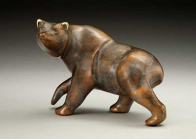 Bear Bronze Sculpture | Griz