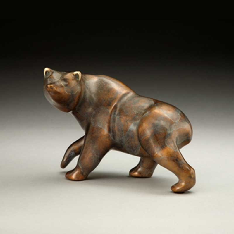 Grizzly Bear Bronze Sculpture, Griz