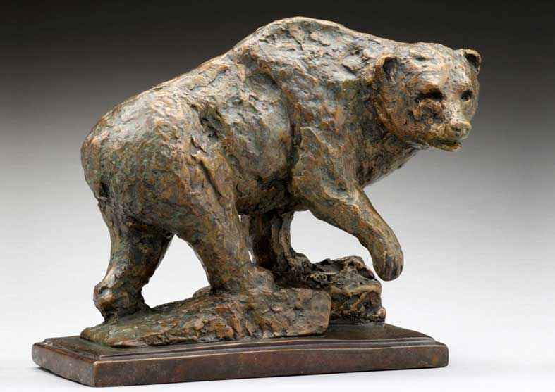 Rustic Bear Sculpture | Standing His Ground