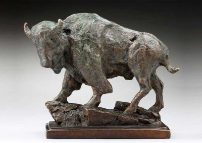 Buffalo Bronze Sculpture | The Veteran