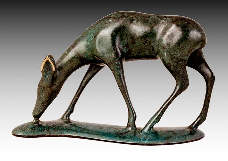 Deer Bronze Sculpture | The Gentle One