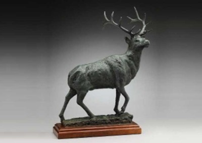 Rustic Elk Sculpture | The Sovereign