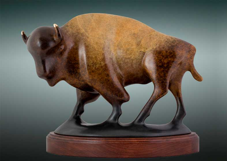 Buffalo Bronze Sculpture | Big Thunder