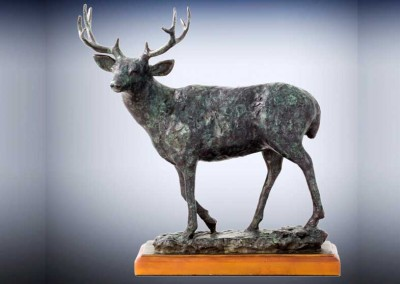 Rustic Deer Sculpture | Mountain Muley