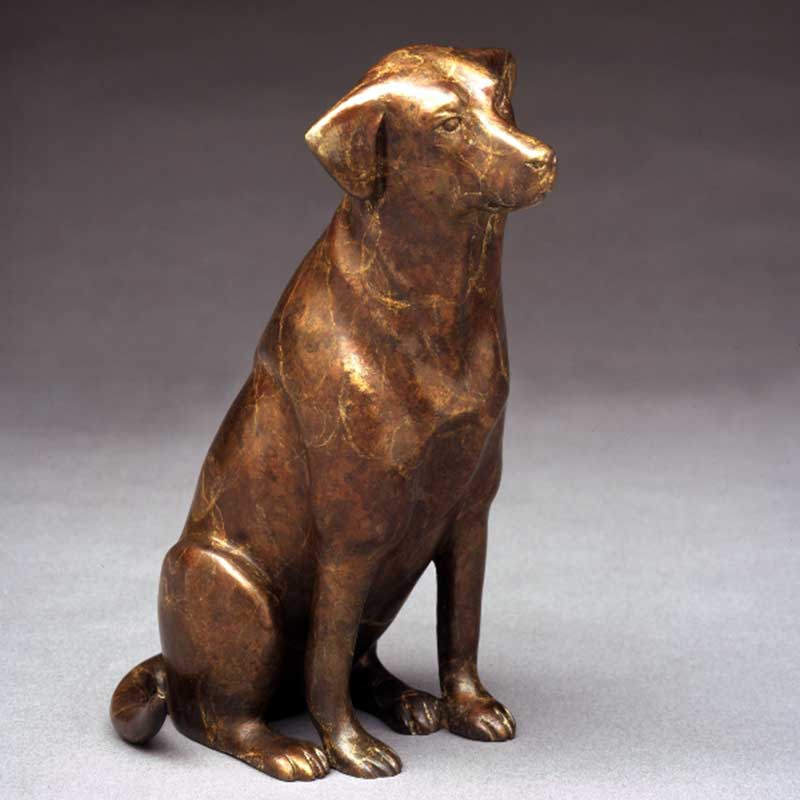 Takin' Me? Chocolate Lab Sculpture
