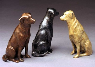 Dog Bronze Sculpture | Takin Me?