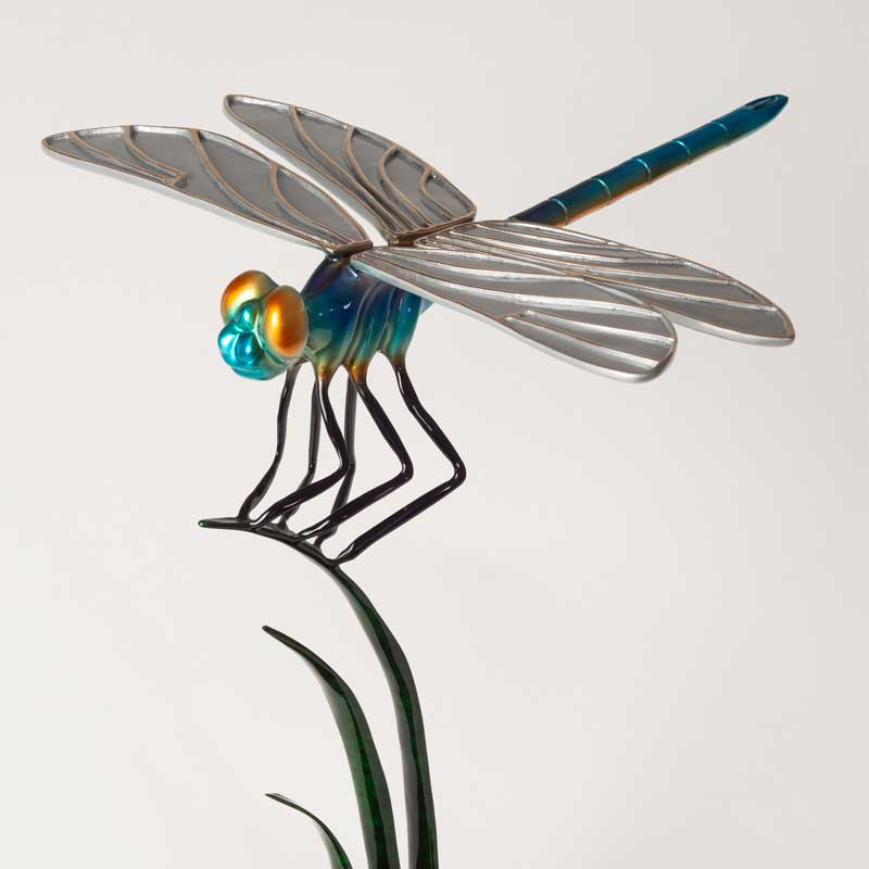 Dragonfly Blue Bronze Sculpture