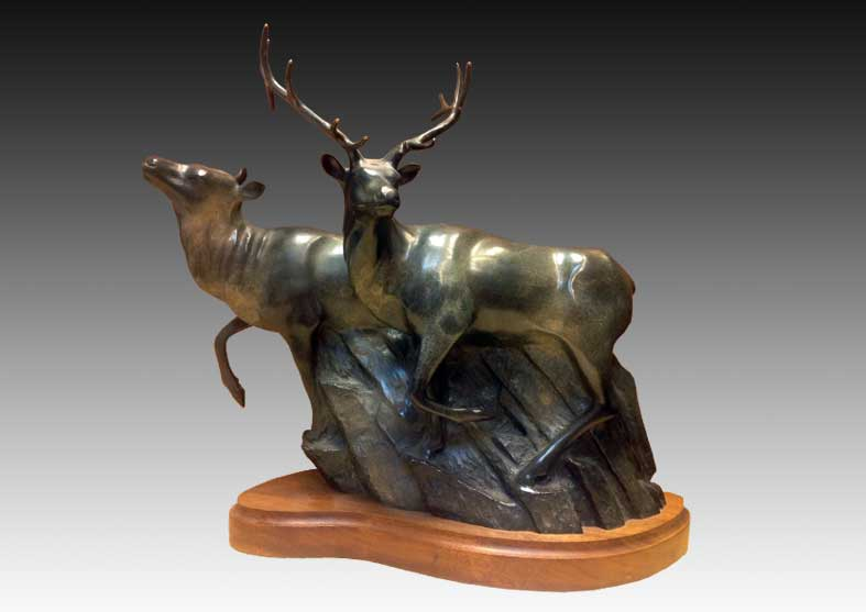 Elk Bronze Sculpture | Intruder