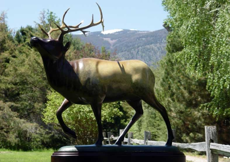 Elk Bronze Statue | Mountain Majesty
