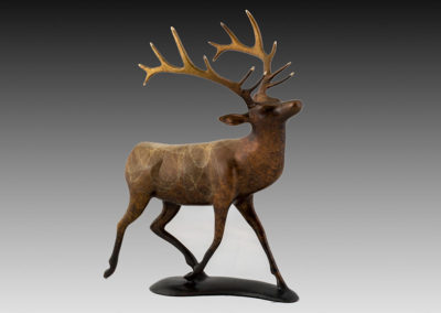 Elk Bronze Sculpture | Out A Here!