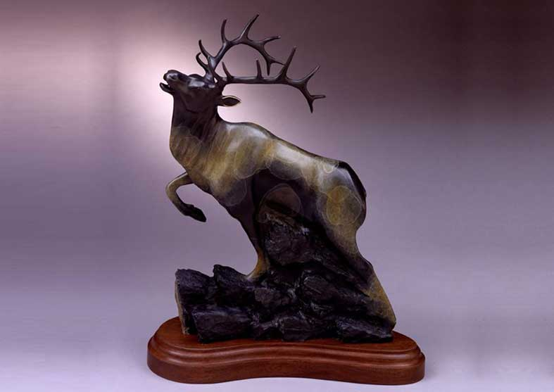 Elk Bronze Sculpture | September's Song