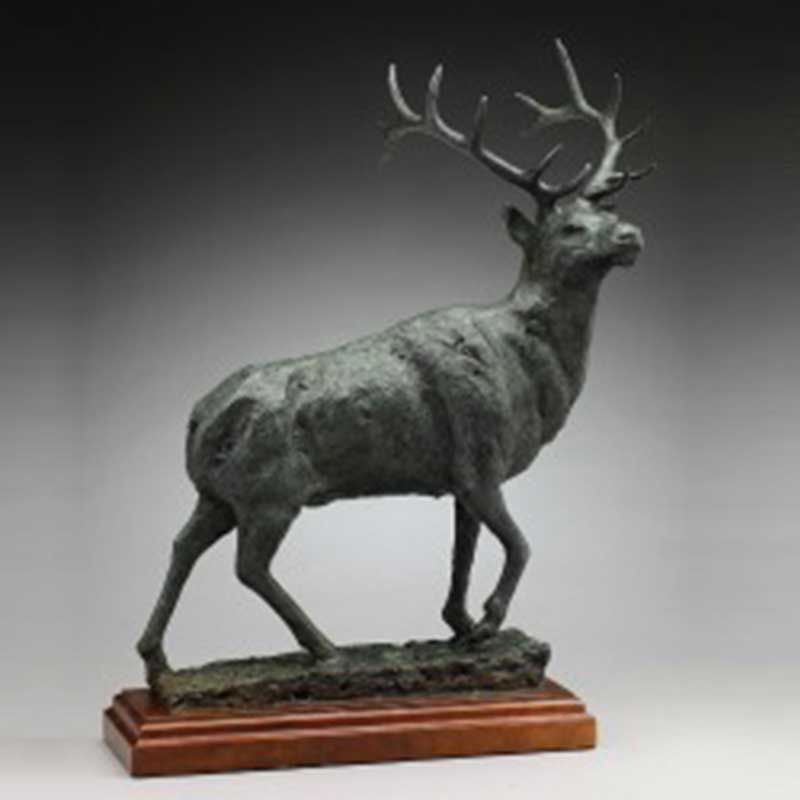 Rustic Elk Bronze Statue, The Sovereign
