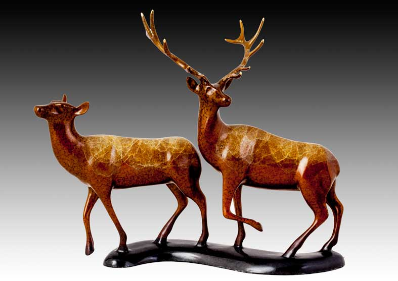 Elk Bronze Sculpture | Spooked