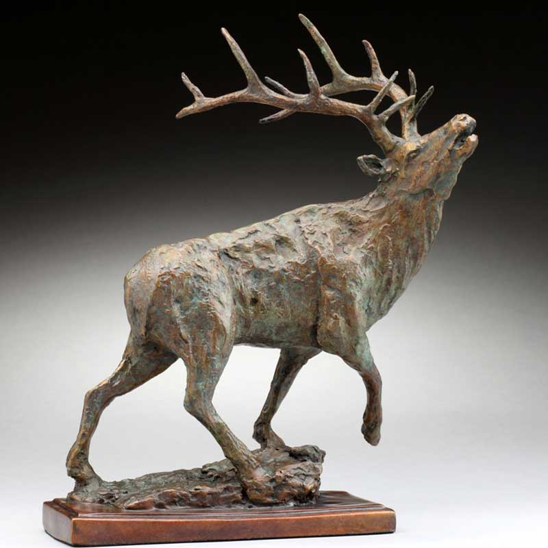 Rustic Bronze Elk, The Challenge