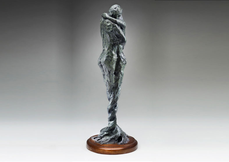 Figurative Bronze Sculpture | Entwined Spirits