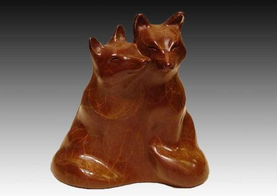 Fox Bronze Sculpture | Little Lovers