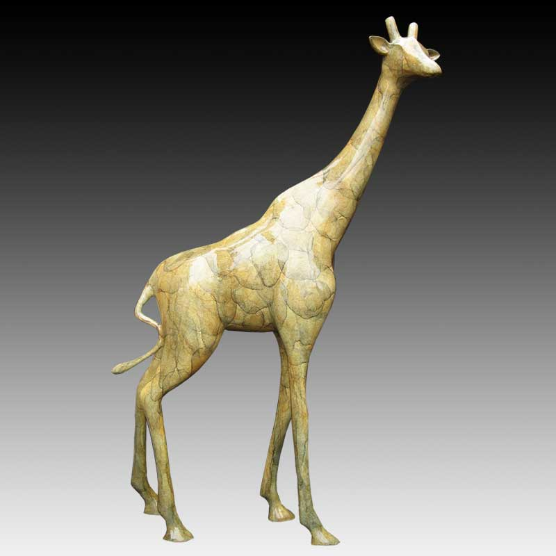 Giraffe Bronze Statue, The Gentle Giant II