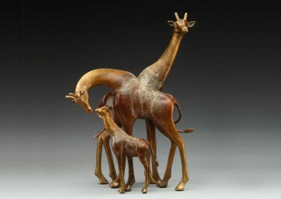 Giraffe Bronze Sculpture | It Takes Two
