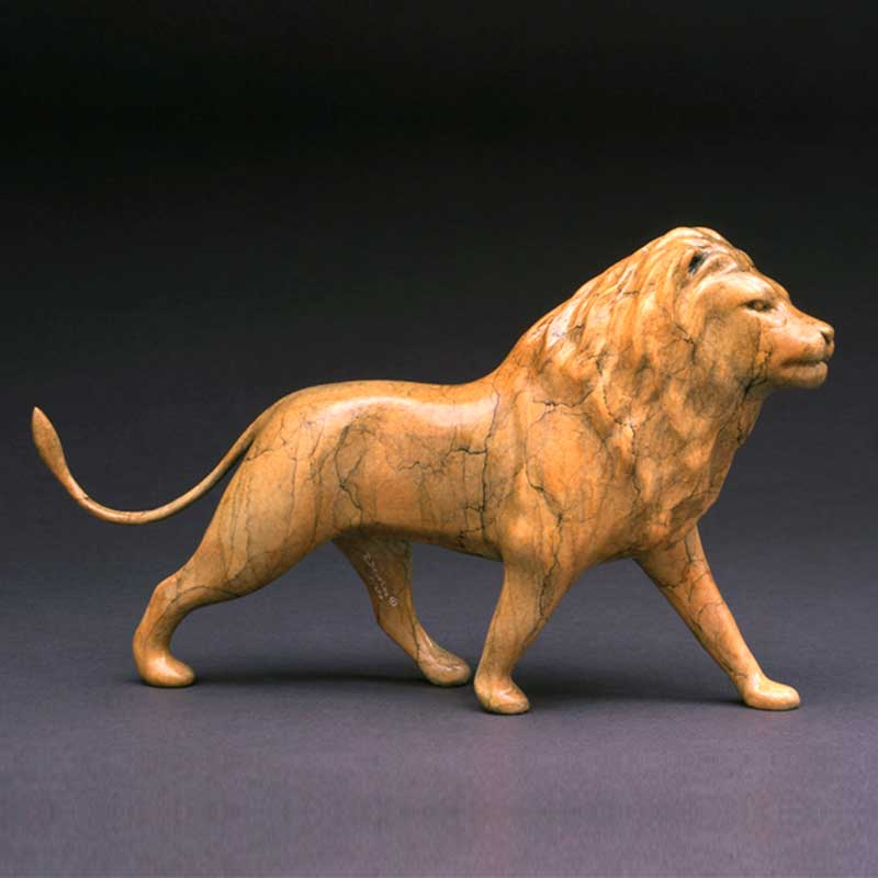 His Majesty, Lion bronze sculpture