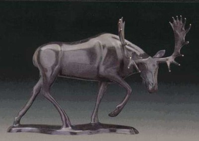 Moose Bronze Sculpture | Meadow Marauder II