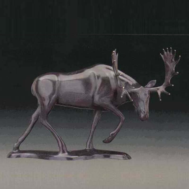 Elk Bronze Sculpture, Meadow Marauder II