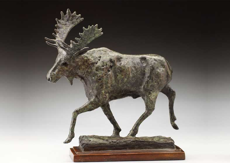 Rustic Moose Sculpture | Moovin Out