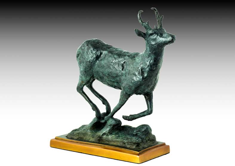 Pronghorn Bronze Sculpture | Prairie Pronghorn