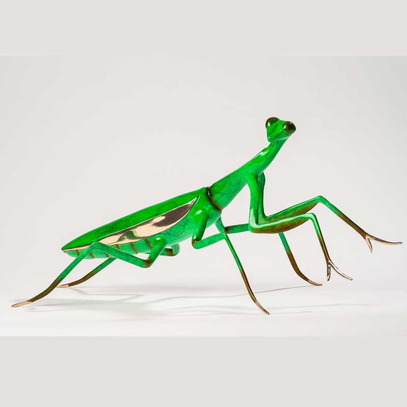 Praying Mantis Bronze Sculpture