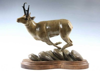 Pronghorn Bronze Sculpture | Ridge Runner