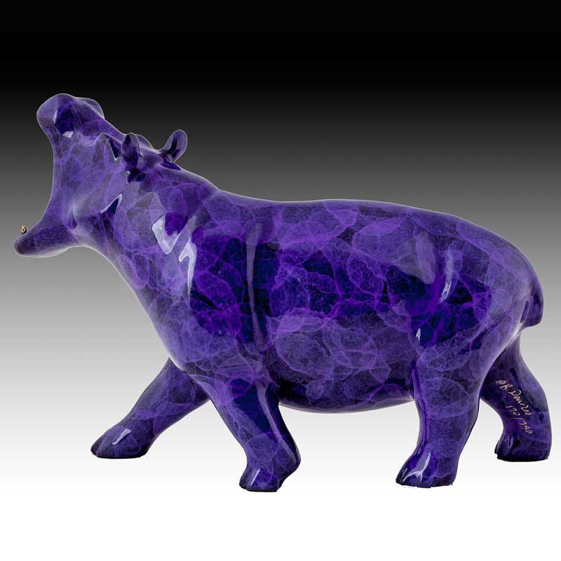 Purple Bronze Hippo