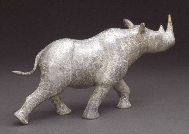 Rhino Bronze Sculpture | Locomotion