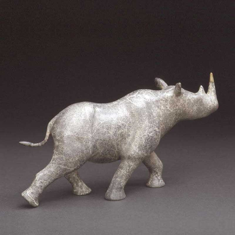 Rhino bronze sculpture, Locomotion