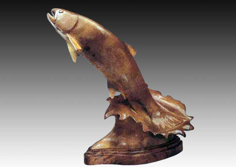 Trout Bronze Sculpture | The Fighter