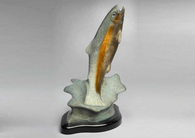 Trout Bronze Sculpture | Mayfly Mayhem