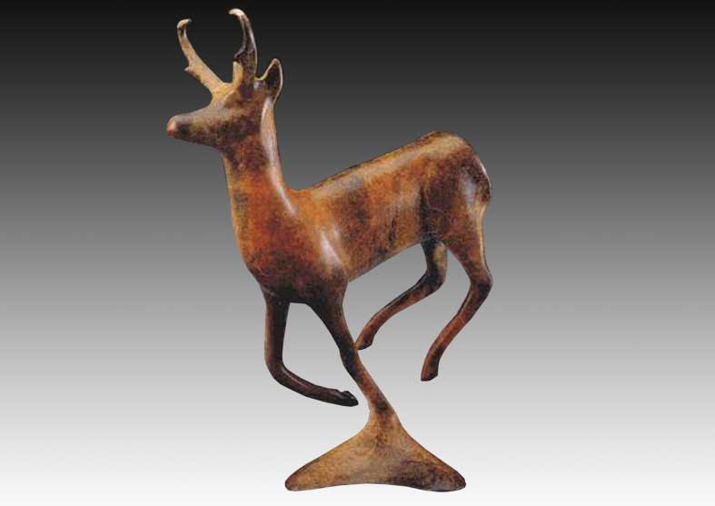 Pronghorn Bronze Sculpture | Wyoming Zephyr